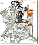 Iztlacoliuhqui, Aztec God Of Frost Acrylic Print