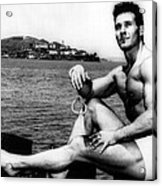 Jack Lalanne Before Handcuffed Swim Acrylic Print by Everett