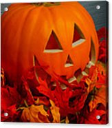 Jack-o-lantern Halloween Display Acrylic Print