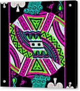 Jack Of Spades Acrylic Print by Wingsdomain Art and Photography