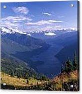 Jack Peak And Ross Lake Acrylic Print