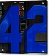 Jackie Robinson 42 Acrylic Print by Rob Hans