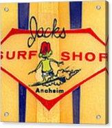 Jacks Surf Shop Acrylic Print