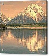 Jackson Lake Reflection Acrylic Print