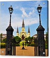 Jackson Square In New Orleans Acrylic Print
