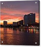 Jacksonville Skyline Night Acrylic Print