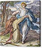 Jacobs Struggle, 19th Cent Acrylic Print