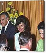 Jacqueline And Robert Kennedy Host Acrylic Print