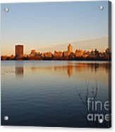 Jacqueline Kenedy Onassis Reservoir Acrylic Print by Alan Clifford