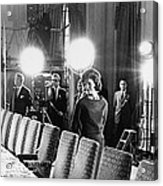 Jacqueline Kennedy And Television Crew Acrylic Print by Everett