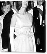 Jacqueline Kennedy At A Dinner To Honor Acrylic Print by Everett