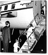 Jacqueline Kennedy Is Welcomed Home Acrylic Print by Everett