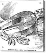 James G. Blaine Cartoon Acrylic Print