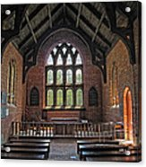 Jamestown Church Interior Acrylic Print