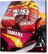 Jamie James - Yamaha Yzf Acrylic Print by Jeff Taylor