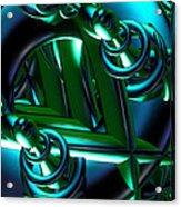 Jammer Blue Green Flux 001 Acrylic Print