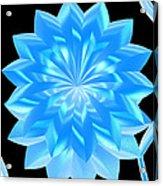 jammer Blue Shimmer Lotus Acrylic Print