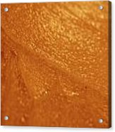 Jammer Tangerine Abstract Acrylic Print