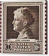 Jane Addams Postage Stamp Acrylic Print