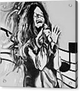 Janis In Black And White Acrylic Print