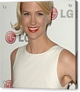 January Jones At Arrivals For A Night Acrylic Print by Everett
