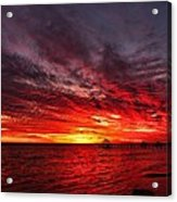 January Sunset Acrylic Print