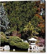Japanese Friendship Garden . San Jose California . 7d12785 Acrylic Print