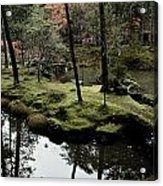Japanese Garden At Saihoji Temple Acrylic Print