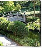Japanese Garden Bridge Acrylic Print