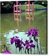 Japanese Garden Brooklyn New York Acrylic Print