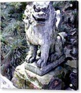 Japanese Garden Lion Dog Statue 1 Acrylic Print