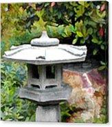 Japanese Garden Stone Snow Lantern Acrylic Print