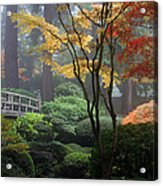 Japanese Gardens Fall Acrylic Print