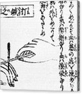 Japanese Illustration Of Moxa Acrylic Print