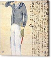 Japanese Print Of An American Sailor Acrylic Print