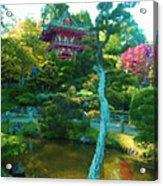 Japanese Tea Garden Temple Acrylic Print
