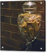 Jar Of Biscotti Acrylic Print by Sandi OReilly