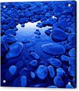 Jasper - Blue Boulders Acrylic Print