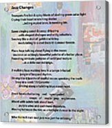 Jazz Changes - Poem Acrylic Print
