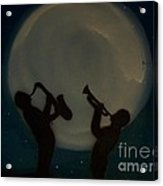 Jazzing At The Moon Acrylic Print by Damion Powell