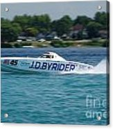 J.d. Byrider Offshore Racing Acrylic Print