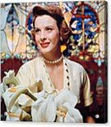 Jean Peters, 1950s Portrait Acrylic Print by Everett
