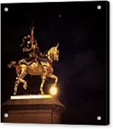Jeanne D'arc And A Single Star Acrylic Print