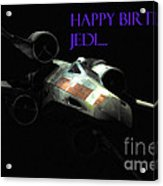 Jedi Birthday Card Acrylic Print