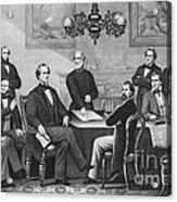 Jefferson Davis, Cabinet Acrylic Print by Photo Researchers