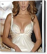 Jennifer Lopez Wearing A Roberto Acrylic Print by Everett