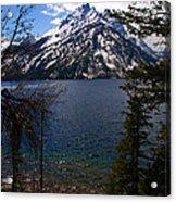 Jenny Lake In The Grand Teton Area Acrylic Print