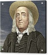 Jeremy Bentham, British Philosopher Acrylic Print by Sheila Terry