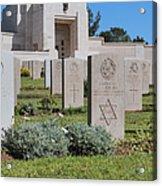 Jerusalem British War Cemetery Acrylic Print by Noam Armonn