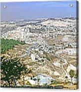 Jerusalem Panorama Acrylic Print